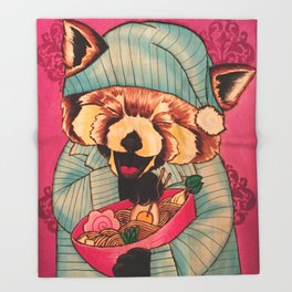 Takayuki & His Midnight Snack Throw Blanket