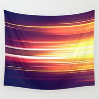 sonic Wall Tapestries featuring Super Sonic by Emily Day