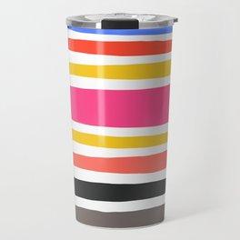 Streifen 001 / Multicolor Stripe Pattern Travel Mug