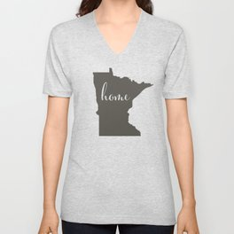 Minnesota is Home Unisex V-Neck