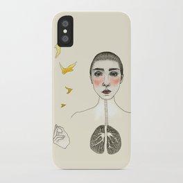 kara akciğer iPhone Case