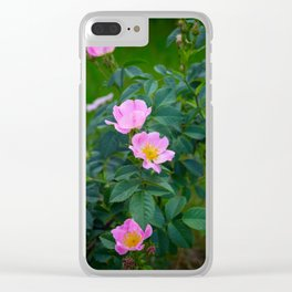 Wild rose Clear iPhone Case