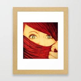 Green Eyed Beauty Framed Art Print