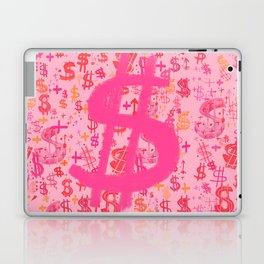 Pink Dollar Signs Laptop & iPad Skin