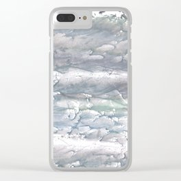 Gray abstract Clear iPhone Case