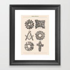 Funeral Wreaths Framed Art Print