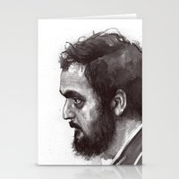 stanley kubrick Stationery Cards featuring Stanley Kubrick by Laurent Samani