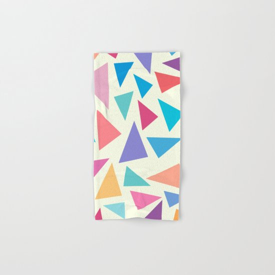 Colorful geometric pattern II Hand & Bath Towel