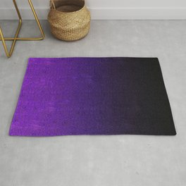 Purple & Black Glitter Gradient Rug