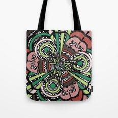 flowing floral Tote Bag