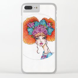 JennyMannoArt Colored Illustration/Jane Clear iPhone Case