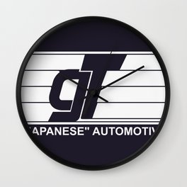 GT Japanese Automotive Wall Clock