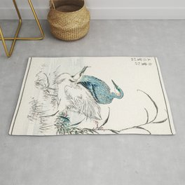 night heron and little egret illustration 29510389908 Rug
