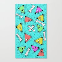 triangle Canvas Prints featuring Triangle by Jimmy Kid