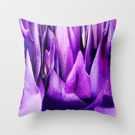 305 - Flower Mountains abstract design Throw Pillow