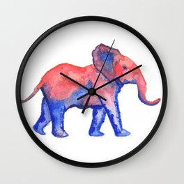 Les Animaux: Baby African Elephant Wall Clock