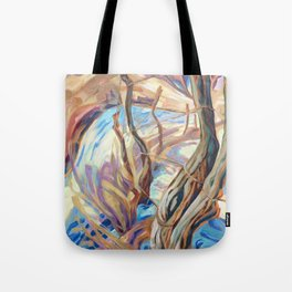Winter Fence Row Tote Bag