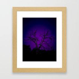 Biloxi tree blue Framed Art Print