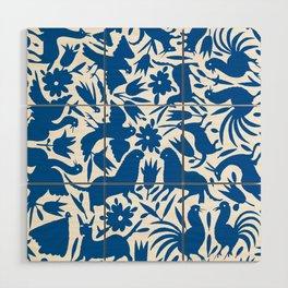 otomi blue Wood Wall Art