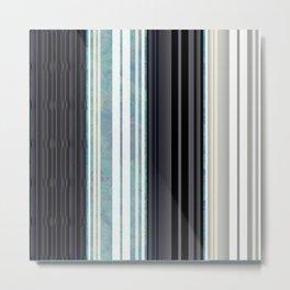 Black, White, & Sea Glass Accordian Metal Print