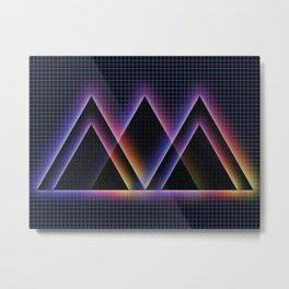 2D Pyramids Metal Print