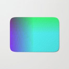 Cyan Green Purple Red Blue Black ombre rows and column texture Bath Mat
