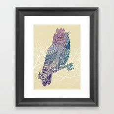 Owl King Color Framed Art Print