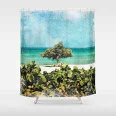 Divi Divi Tree of Life Shower Curtain