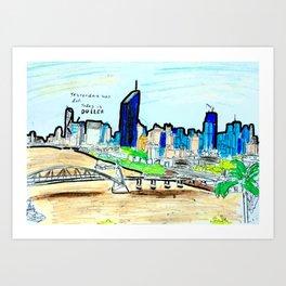 BRISBANE POSTCARD SERIES 002 Art Print