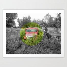 Empty Jeep Art Print