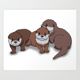 Romp of Baby Otters Kunstdrucke