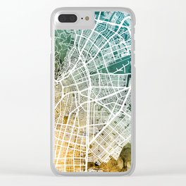 Cali Colombia City Map Clear iPhone Case