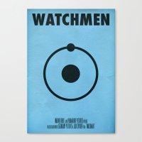 watchmen Canvas Prints featuring Watchmen - Dr.Manhattan by Fabio Castro