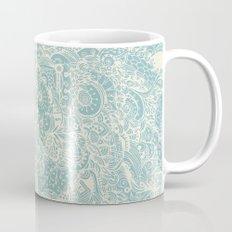 Detailed rectangle, light blue  Mug