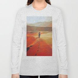 The Martian Mars walk inspired chalk drawing Long Sleeve T-shirt