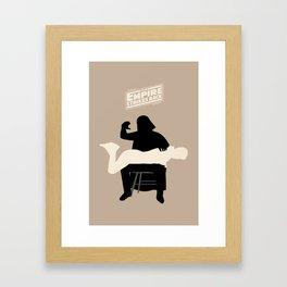Empire strikes back Framed Art Print