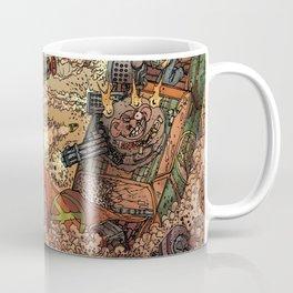 LOVE ME LIKE A PSYCHO ROBOT - USING A HUGE SHARK Coffee Mug