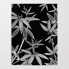 White Bamboo Poster