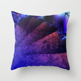 Pleated fantasy forest Throw Pillow