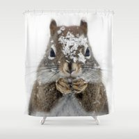 squirrel Shower Curtains featuring Squirrel! by Oberleigh Images