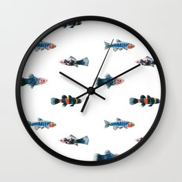 Swim With The Fishes Wall Clock
