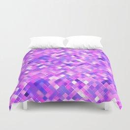 Lilac Bright Squares Mosaic Duvet Cover