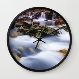 Deep in the woods there was a magic river Wall Clock