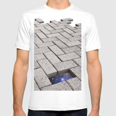Holes in the Fabric MEDIUM White Mens Fitted Tee