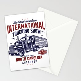 American International Trucking Show Stationery Cards