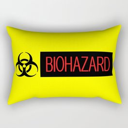 HAZMAT: Biohazard (Red, Black & Yellow) Rectangular Pillow