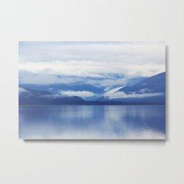 mountain blue lake lanscape Metal Print
