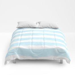 Pastel Blue Stripes Comforters