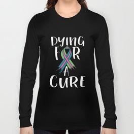 Metastatic Breast Cancer Awareness Art For Women Dark Long Sleeve T-shirt