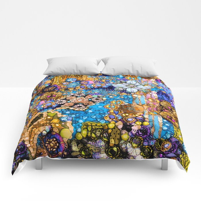 Gold, Glitter, Gems and Sparkles Comforters